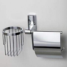 Держатель туалетной бумаги и освежителя WasserKRAFT Серия Leine К-5000