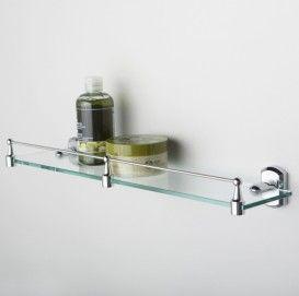 Полка стеклянная с бортиком WasserKRAFT Серия Oder К-3000