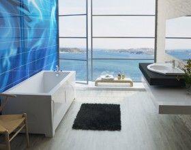 Столешница в ванную комнату из литьевого мрамора