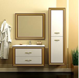 Комплект  мебели OPADIRIS КАРАТ 100 цвет белый/серебро или слон.кость/ золото