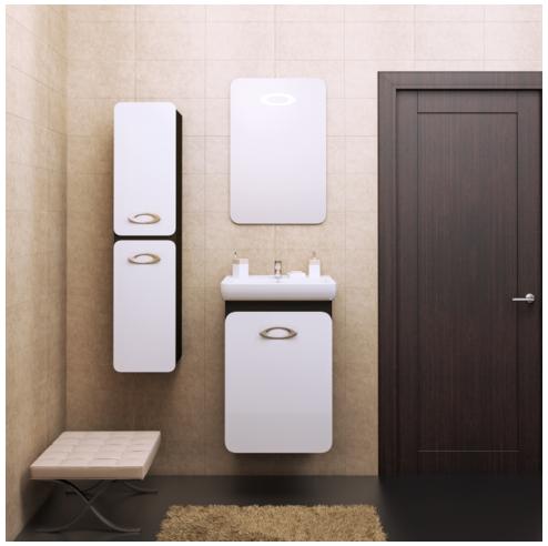 Комплект  мебели OPADIRIS ТОРА 50 цвет белый/венге