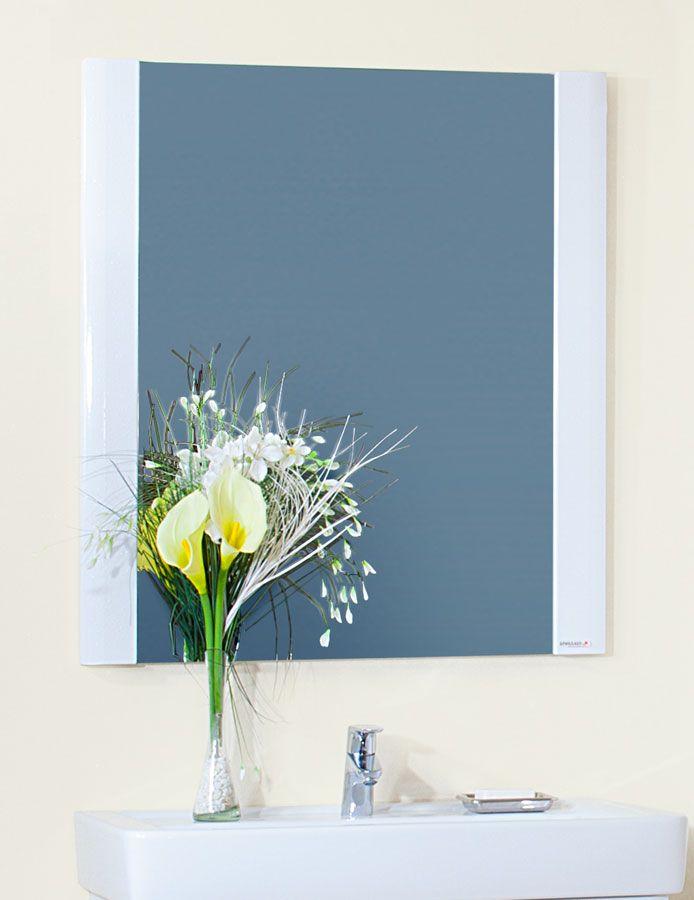 Зеркало Бриклаер Аквавита, 3D, белый глянец