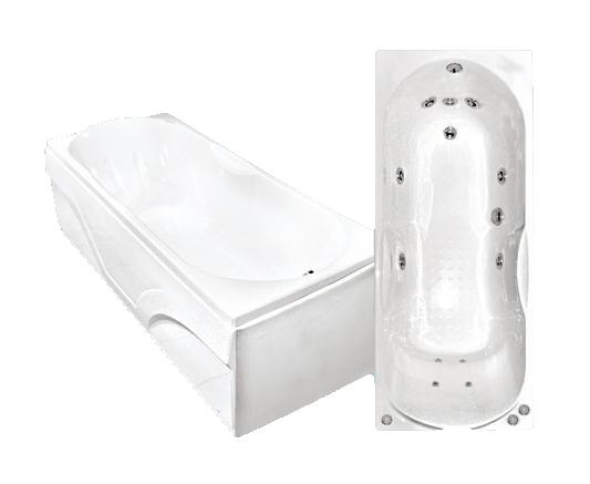 Гидромассажная акриловая ванна Bach Лаура 1400*700, G