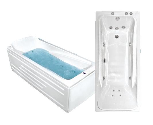 Гидромассажная акриловая ванна Bach Марианна 1500*720, G