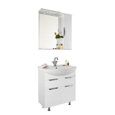 Мебель для ванной Vod-ok Лира 75 (белый, венге)