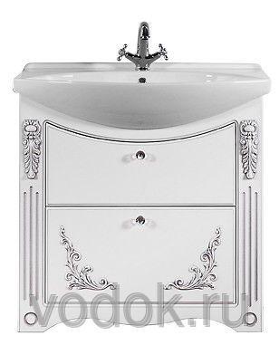 Мебель для ванной Vod-ok Elite Кармен 75 патина белый