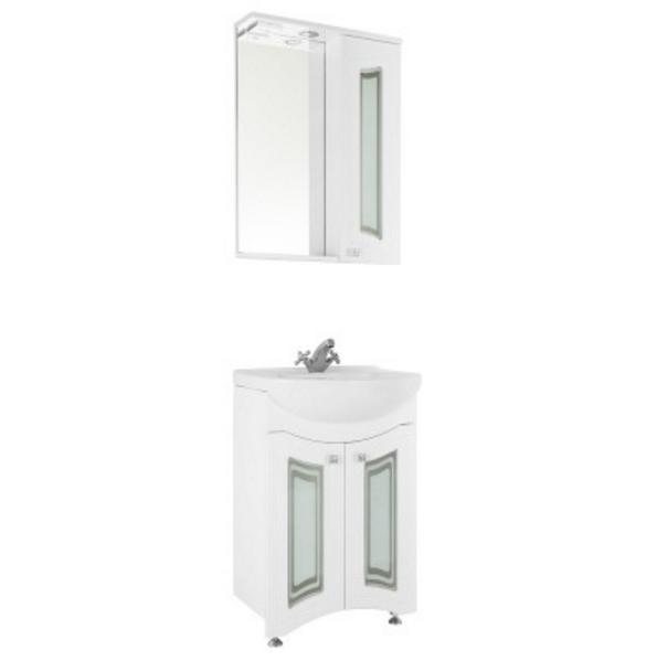 Зеркало-шкаф Vod-ok Адам С 65, со стеклами