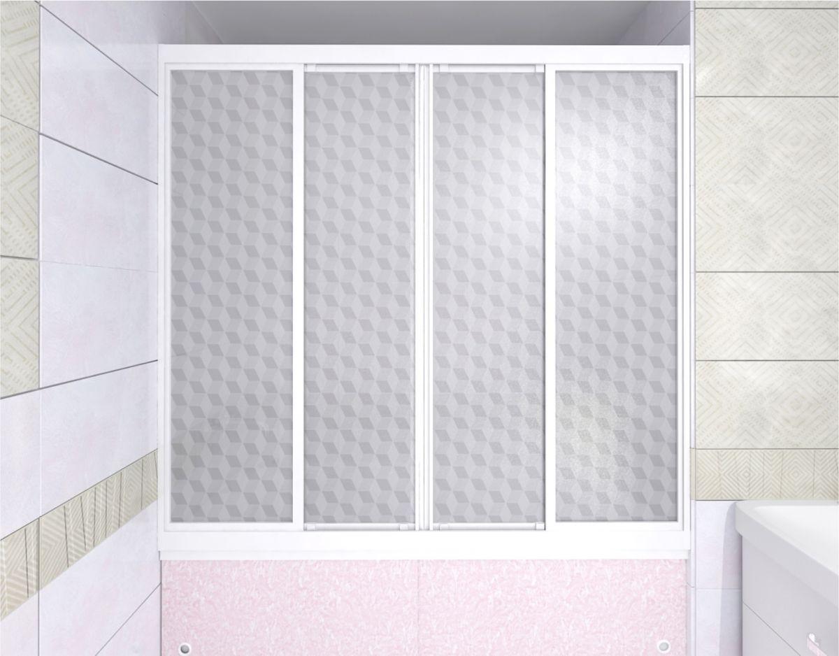 Душевая шторка на ванну МетаКам Купе 170x140