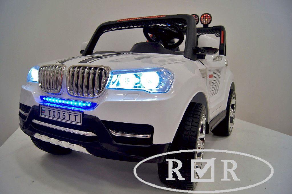 Детский электромобиль River Toys BMW T005TT белый